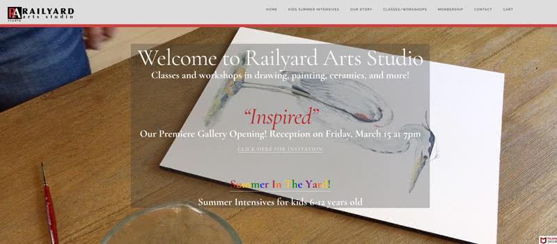 Website Design | Lake Mahopac Graphic Design | Railyard Arts Studio