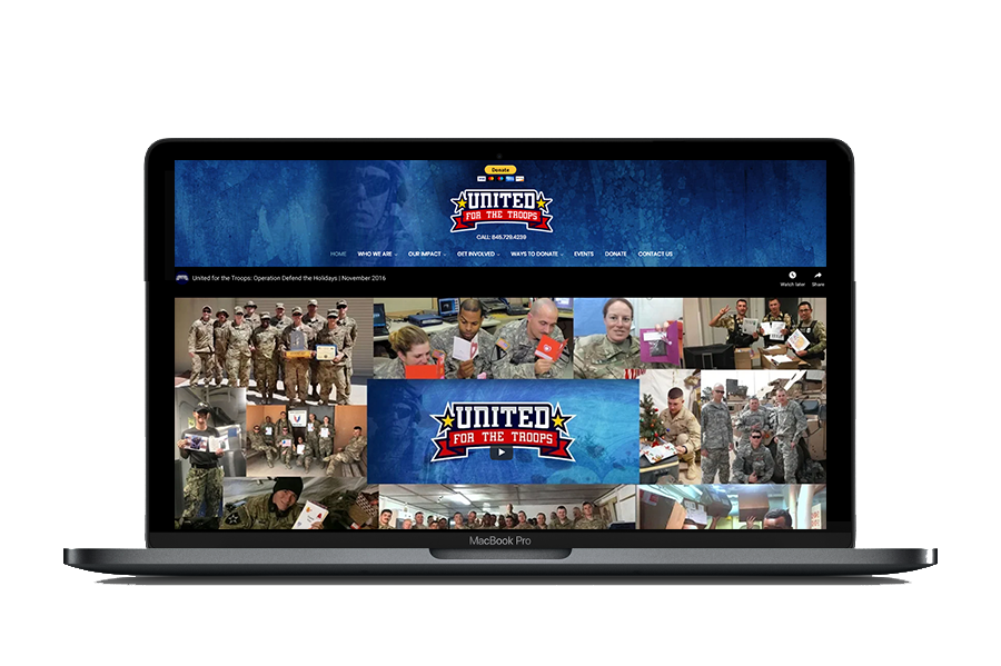 United for the Troops Website Design