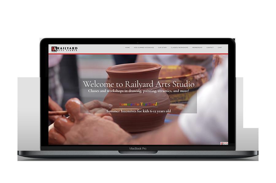 Railyard Arts Studio Website Design