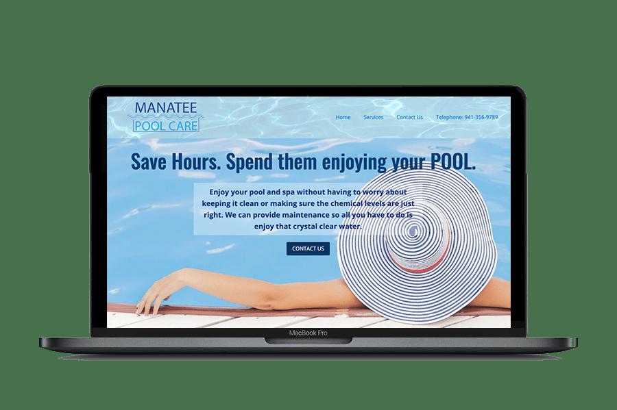 Manatee Pool Care Website and Logo Design