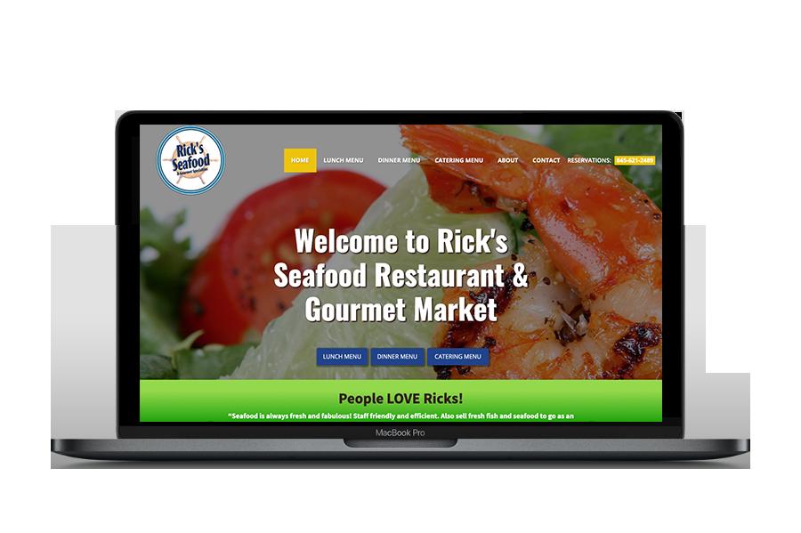 Website Design, Rick's Seafood Restaurant and Market