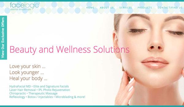 Suncoast Website Design for Facelogic Spa in Mt. Kisco
