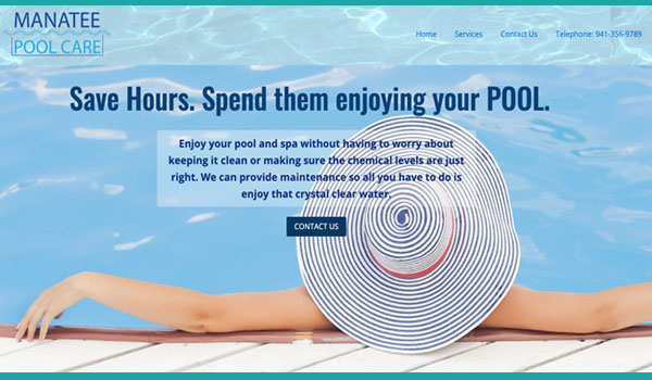 Suncoast Website Design for Manatee Pool Care