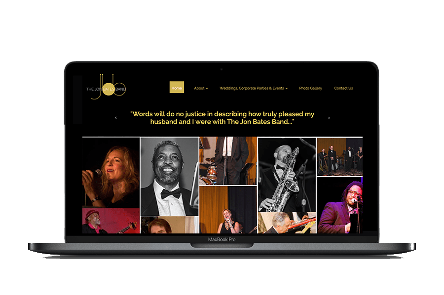 The Jon Bates Band Website Design