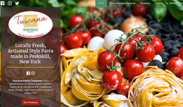 Tuscana Pasta Company Website Design