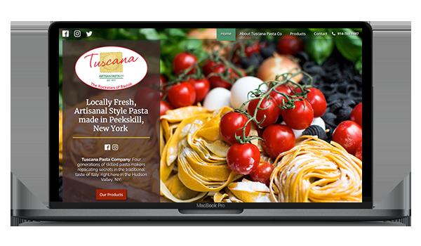 Tuscana Pasta Company Website Design