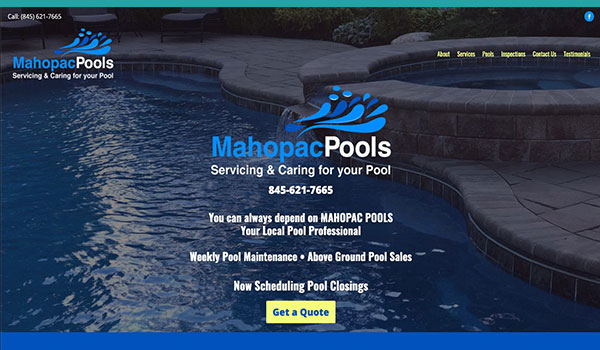 Website Design - MAHOPAC Pools