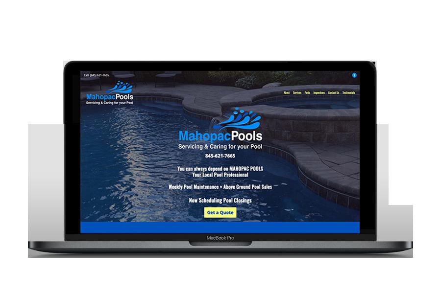 Mahopac Pools Logo & Website Design