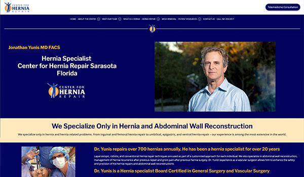 Center for Hernia Repair Website Redesign