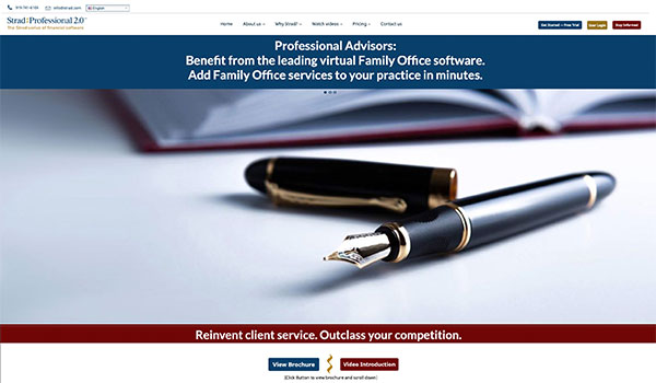 Strad Professional Software Website