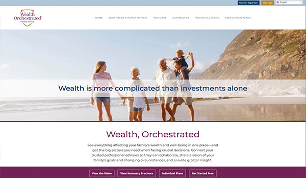 Wealth Orchestrated Website Design